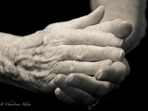 my mother's hands, Mother's clapping hands with Parkinson's Disease