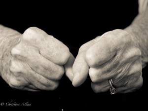 my mother's hands, Mother's fist hands with Parkinson's Disease