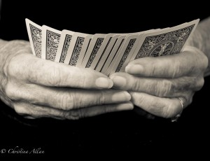 my mother's hands, Mother's card player hands with Parkinson's Disease