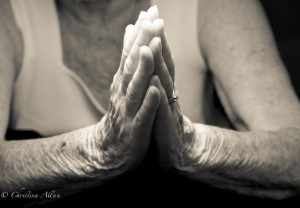 my mother's hands, Mother's praying hands with Parkinson's Disease