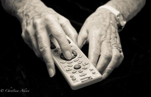 my mother's hands, Mother's holding the remote hands with Parkinson's Disease