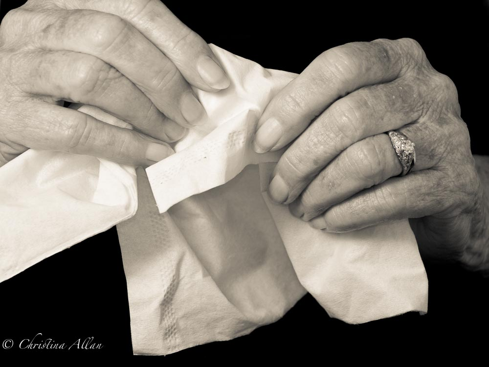 Hands with Tissue