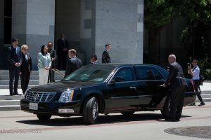 Black sedan capitol sacramento dalai lama visit allan
