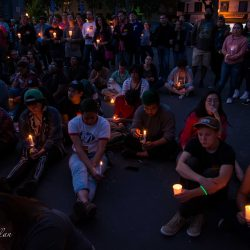 Crowd with candles orlando vigil sacramento allan