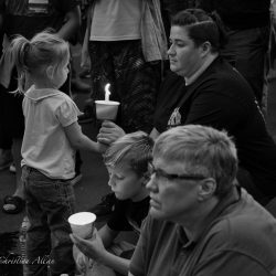 Mother daughter orlando candlelight vigil sacramento allan black and white