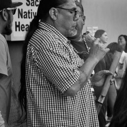 Native American blowing sage orlando vigil sacramento allan black and white
