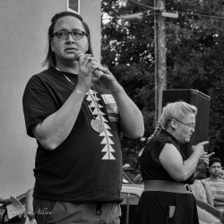 Native American speaker orlando vigil sacramento allan black and white