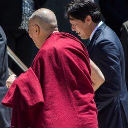 Walking with de Leon sacramento capitol dalai lama visit
