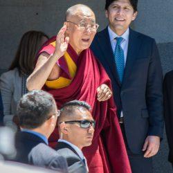 Waving again sacramento capitol dalai lama visit allan