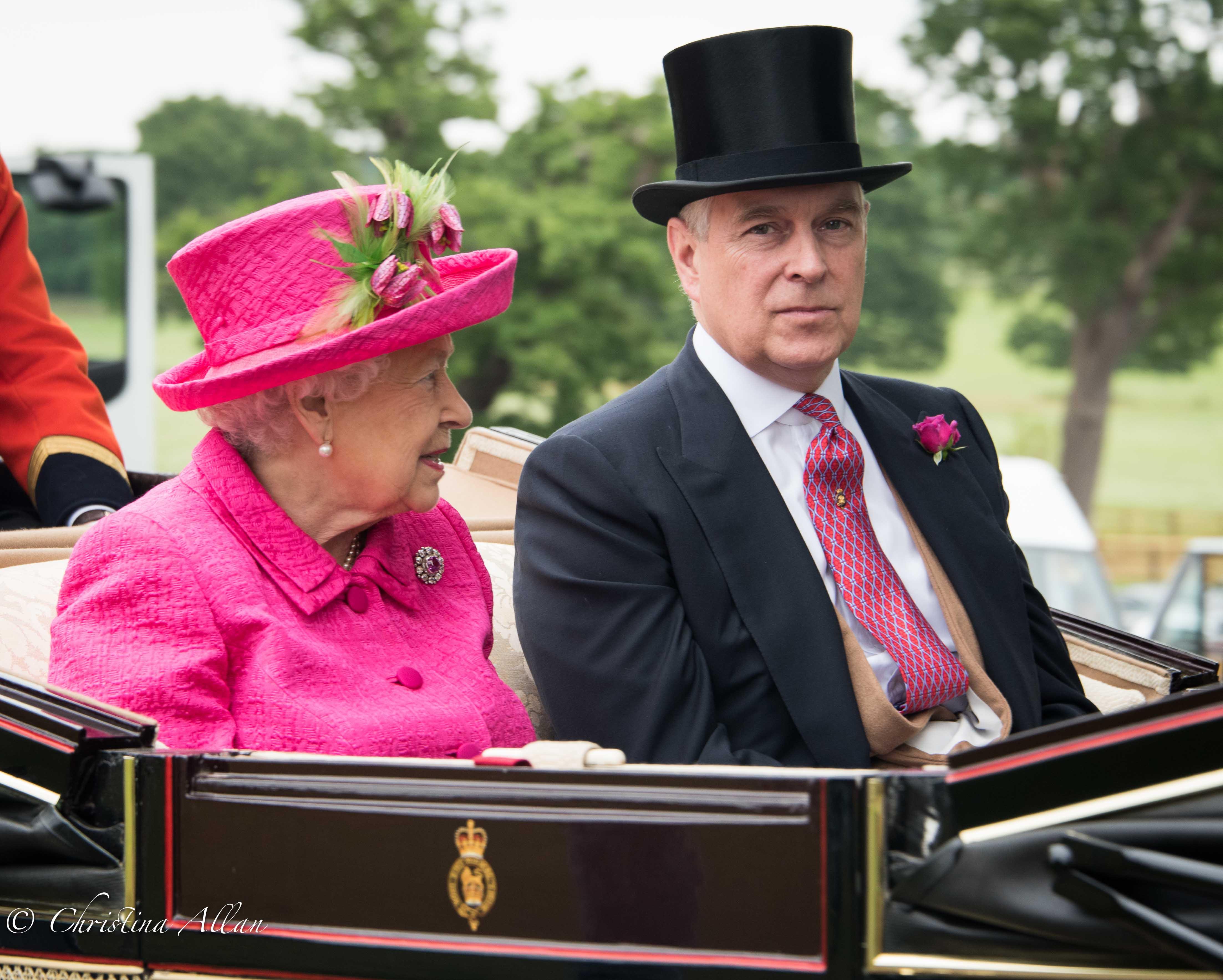 HM Queen Elizabeth II with Prince Andrew Duke of York
