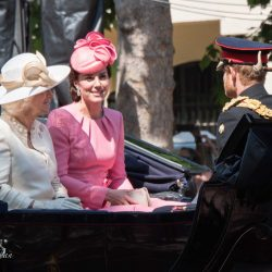 Kate Duchess of Cambridge, Prince Harry of Wales Camilla Duchess of Cornwall in barouche Carriage Royal Processions trooping the colour queens birthday parade london allan