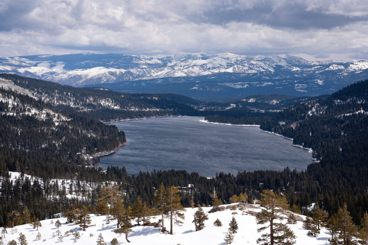 Donner pass, winter, view, mcglashan point, cannabalism, california, famous