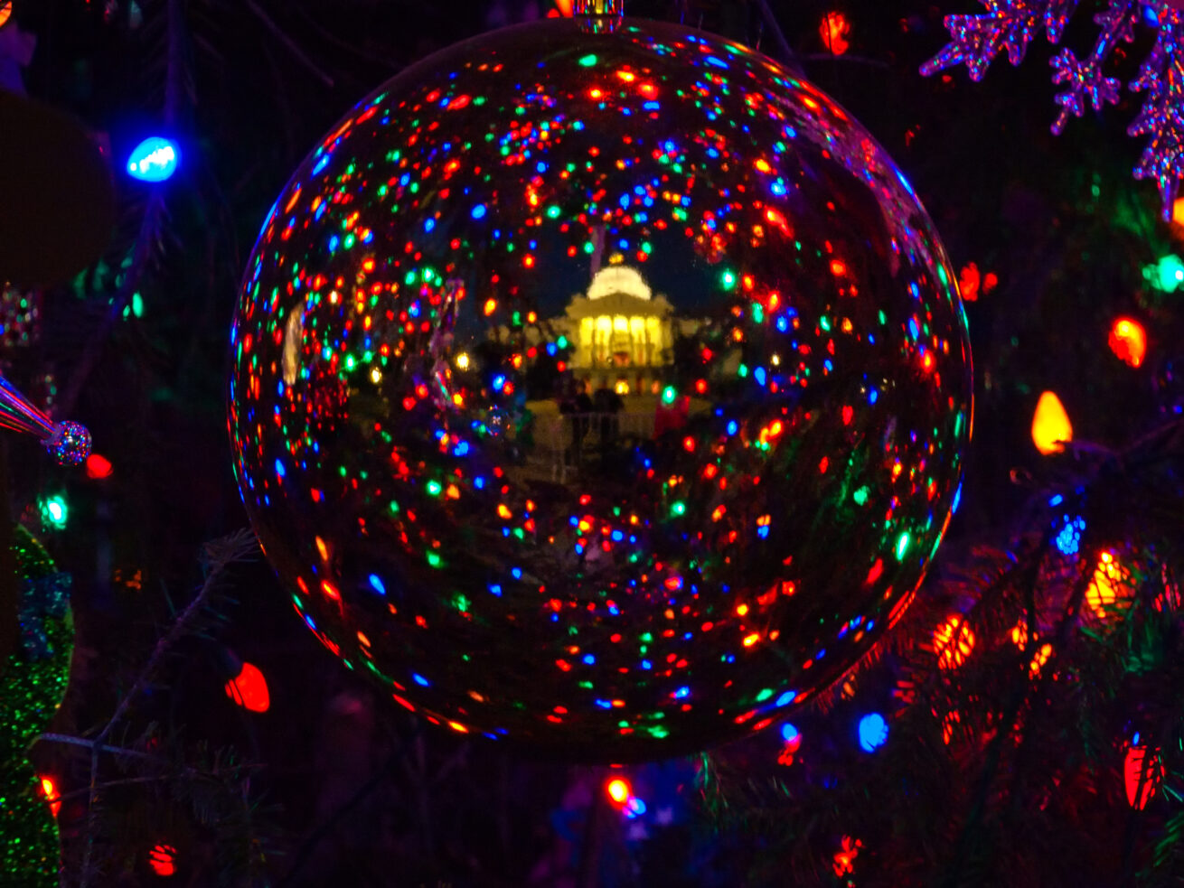 Capitol Reflection at Christmas