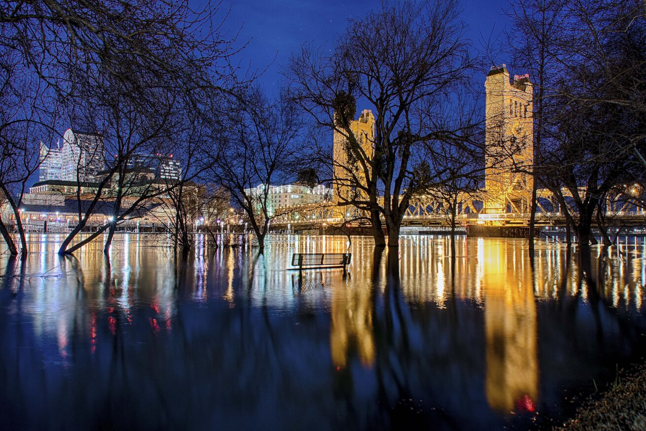 Tower Bridge and Flooded River