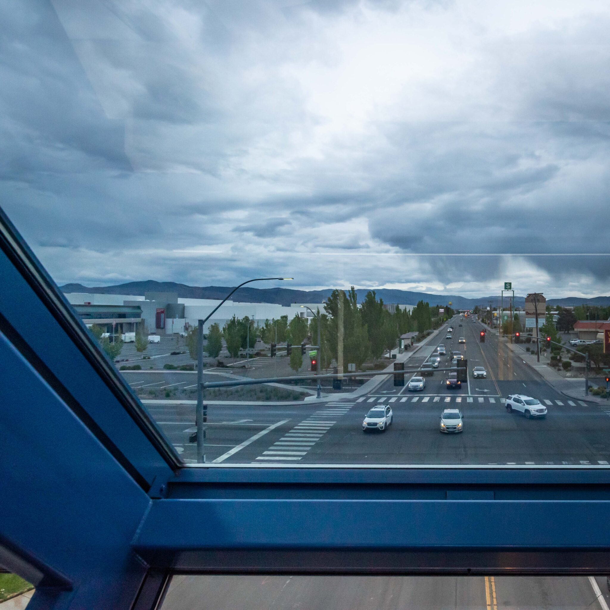 clouds, weather, reno, traffic, view, window, sad, blue, chris allan, reno in transition, covid transition time for Reno