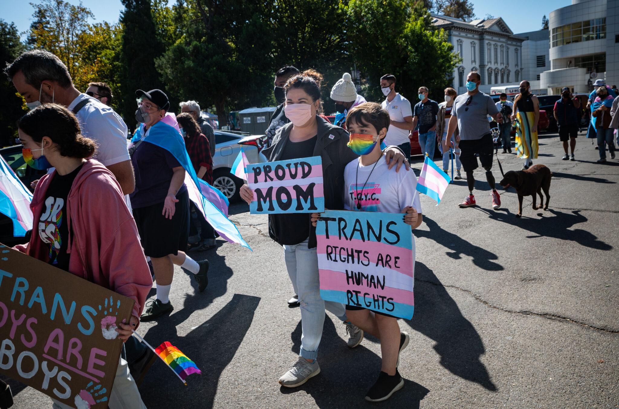 National Trans Visibility Day Sacramento California