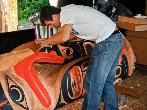 Totem Pole Carver at Native Heritage Center