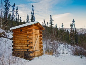 Chena Springs Resort Outhouse by Viewing Lodge