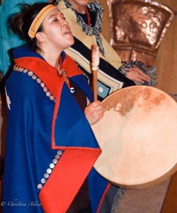 Singer at Hoonah Native Traditions Show