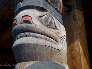 Hoonah Totem Pole Detail