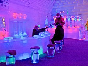 Ice Bar in Chena Springs Resort Ice Museum