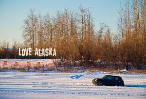 Mini Stranded by I Love Alaska Sign