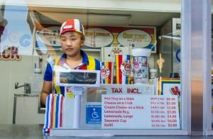 Hot-dog-on-a-stick-female-employee
