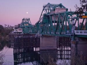 Freeport Bridge with Moon
