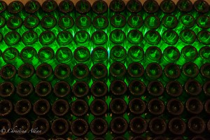 Chandon Green Wine Bottles