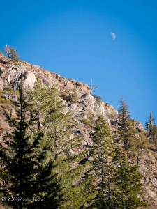 Sierra Nevade with Moonrise