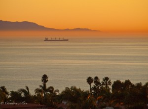 Palos Verdes Sunset with Ship