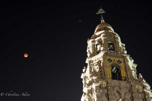 California Tower with Lunar Eclipse, San Diego