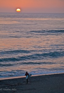 Carlsbad Surfer during Sunset