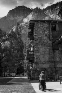 De pushing mom Ahwahnee Yosemite