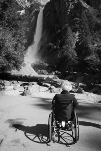 Mom Looking at Yosemite Falls