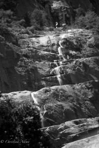 Seasonal waterfall Yosemite