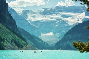 Boats on Lake Louise