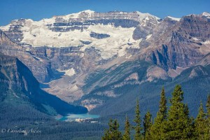 Horizontal View of Lake Louise and Victoria Glacier