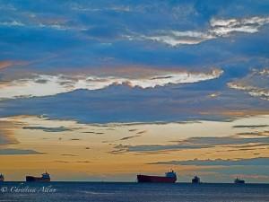 English Bay with Ships
