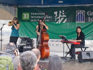 Female Jazz Trio at Vancouver International Jazz Festival
