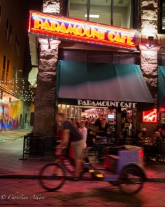 Paramount Cafe and Pedicab on 16th Street