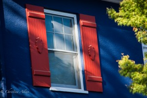 1124 45th Street Red blue shutters