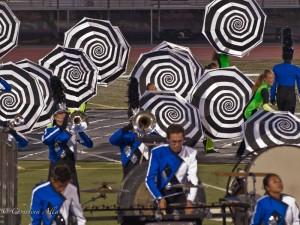 Blue Devils with Umbrellas