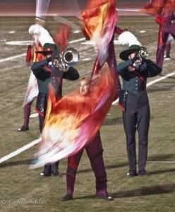 Flag Girl in Motion