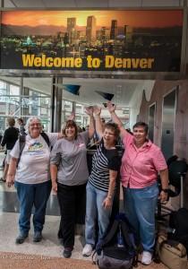 GALA Denver Sacramento Women's Chorus welcome sign airport