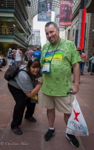 Signing Pat Andrews' (from Orland) Shirt