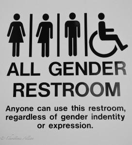 GALA Denver All-gender restroom sign