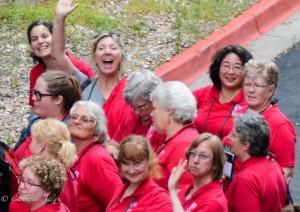 GALA Denver Sacramento Women's Chorus pam waving