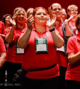 GALA Denver Sacramento Women's Chorus Buell Tech clapping