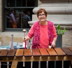 GALA Denver Performing Arts Center Low-flying Knobs marimbas